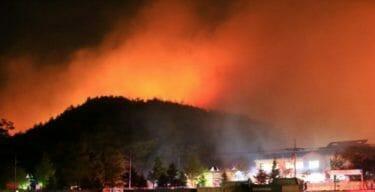 韓国社会、【山火事監視が必要ニダ!】韓国で大規模山火事